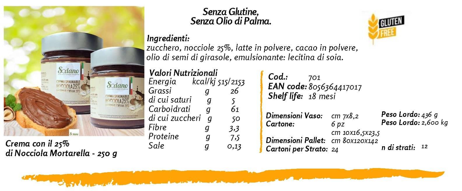 crema spalmabile 25%